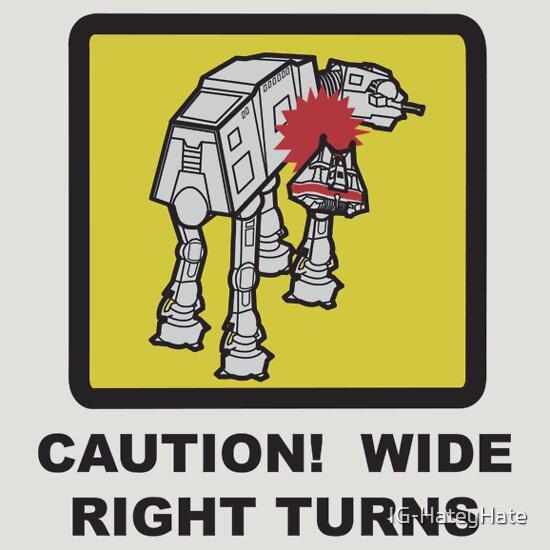 TShirtGifter presents: Wide Right Turn (Star Wars AT-AT Tee)