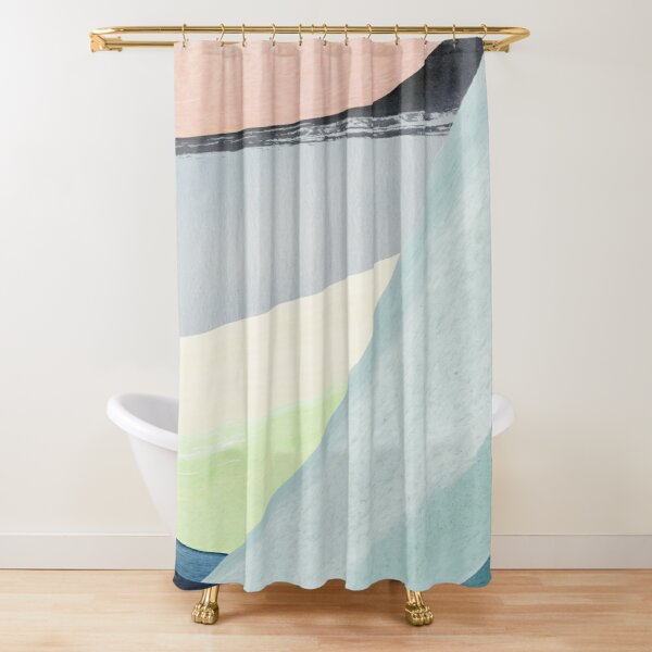 Modern Minimalist Abstract Shower Curtain