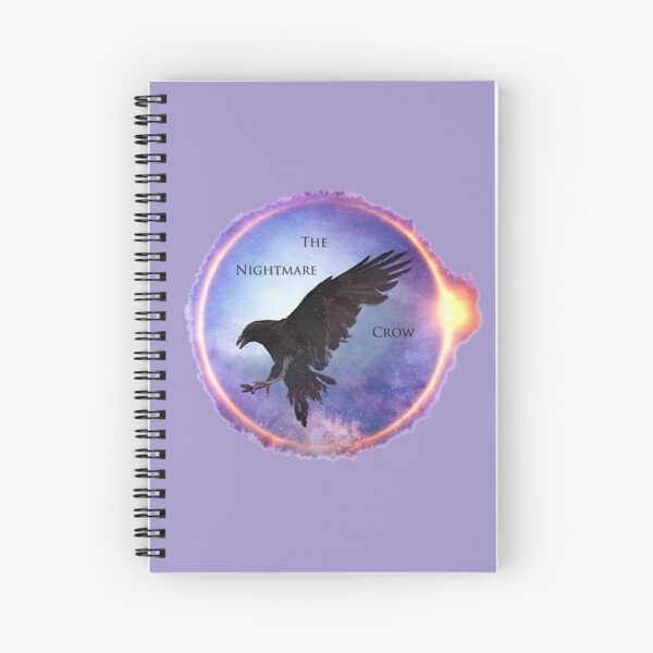 The Nightmare Crow Spiral Notebook