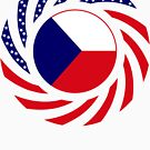 Czech American Multinational Patriot Flag Series by Carbon-Fibre Media