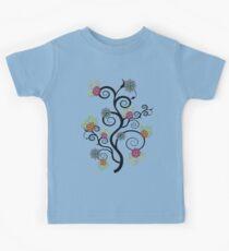 Swirly Flower Tree Kids Tee