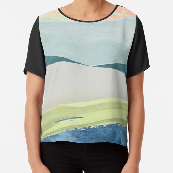 Contemporary Minimalist Pattern Chiffon Top