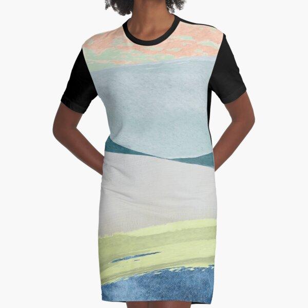 Contemporary Minimalist Pattern Graphic T-Shirt Dress