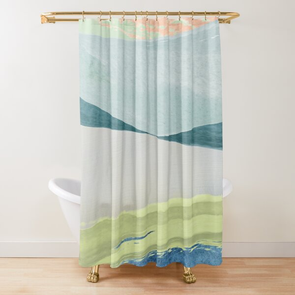 Contemporary Minimalist Pattern Shower Curtain