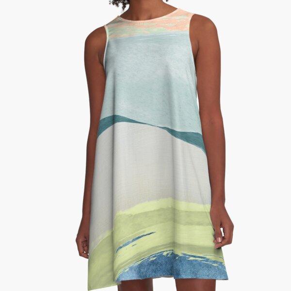 Contemporary Minimalist Pattern A-Line Dress
