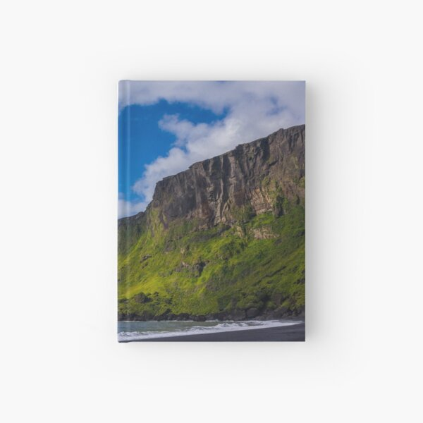 Black sand beach in Iceland Hardcover Journal
