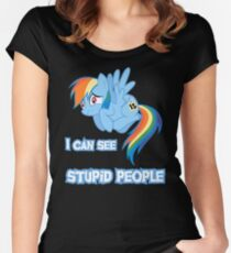 Stupid people Women's Fitted Scoop T-Shirt