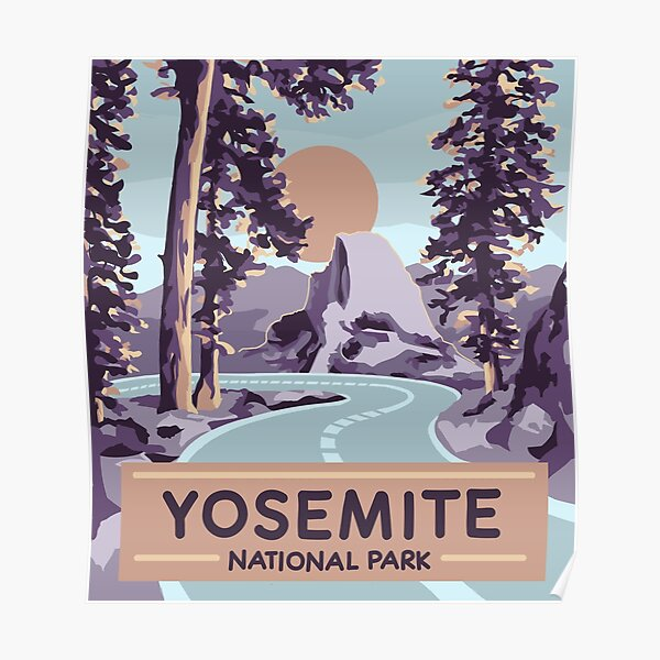 Yosemite National Park poster  Poster