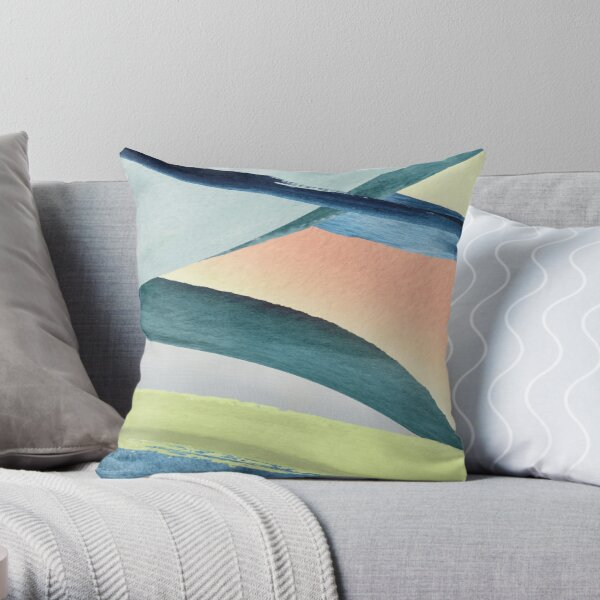 Modern Colorful Design Throw Pillow