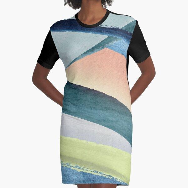 Modern Colorful Design Graphic T-Shirt Dress