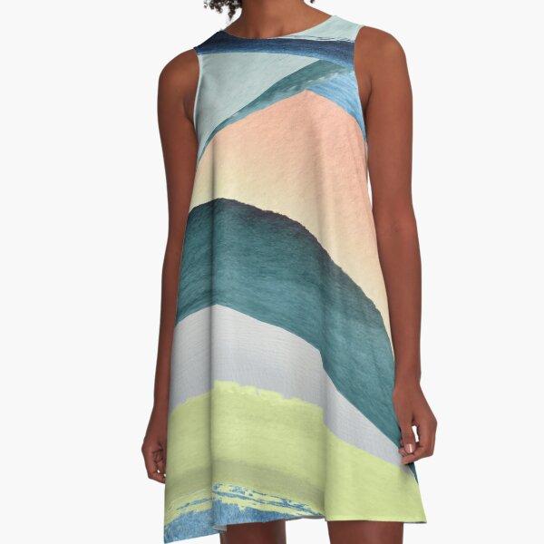 Modern Colorful Design A-Line Dress