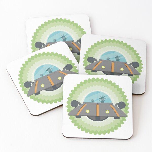 Rick & Morty Spaceship Coasters (Set of 4)
