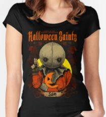 Halloween Saints: Sam Women's Fitted Scoop T-Shirt