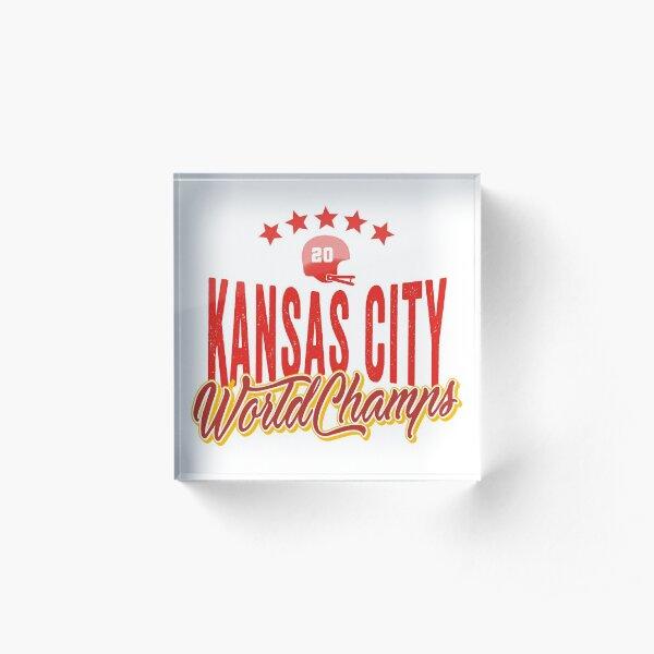 KC Face mask Kansas City facemask KC Kansas City Football Red Vintage Gear Unique Kansas City Champs Design 2020 Acrylic Block
