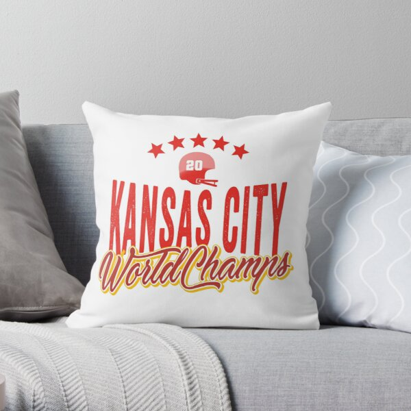 KC Face mask Kansas City facemask KC Kansas City Football Red Vintage Gear Unique Kansas City Champs Design 2020 Throw Pillow