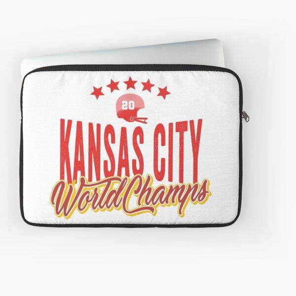 KC Face mask Kansas City facemask KC Kansas City Football Red Vintage Gear Unique Kansas City Champs Design 2020 Laptop Sleeve