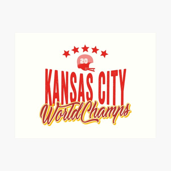 KC Face mask Kansas City facemask KC Kansas City Football Red Vintage Gear Unique Kansas City Champs Design 2020 Art Print