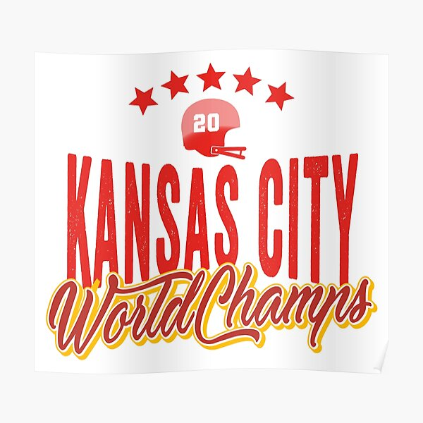 KC Face mask Kansas City facemask KC Kansas City Football Red Vintage Gear Unique Kansas City Champs Design 2020 Poster