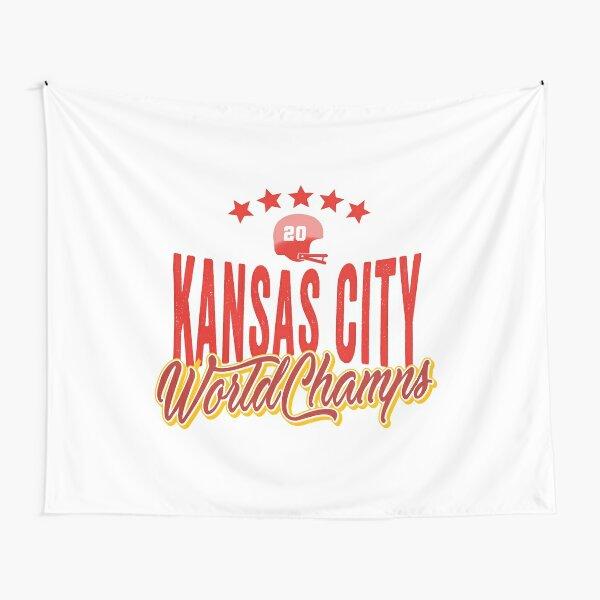 KC Face mask Kansas City facemask KC Kansas City Football Red Vintage Gear Unique Kansas City Champs Design 2020 Tapestry