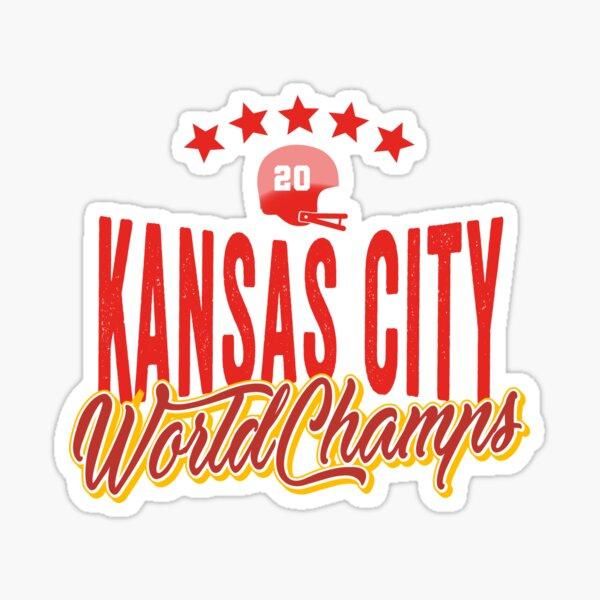 KC Face mask Kansas City facemask KC Kansas City Football Red Vintage Gear Unique Kansas City Champs Design 2020 Sticker