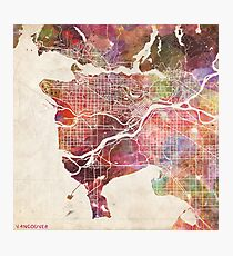 Vancouver map Photographic Print