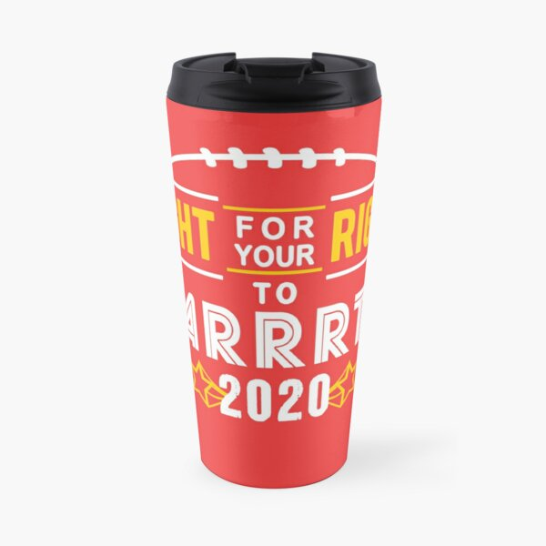 KC Face mask Kansas City facemask Kansas City Fight For Your Right 2020 Kansas City red kingdom football cool graphic design Travel Mug