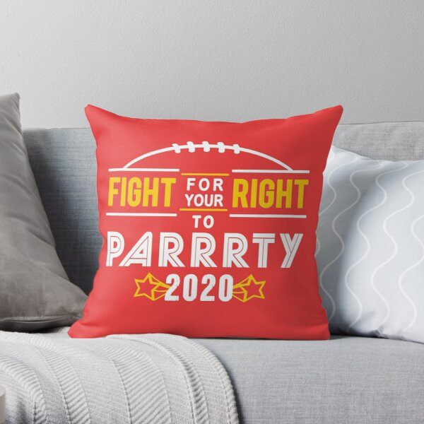 KC Face mask Kansas City facemask Kansas City Fight For Your Right 2020 Kansas City red kingdom football cool graphic design Throw Pillow