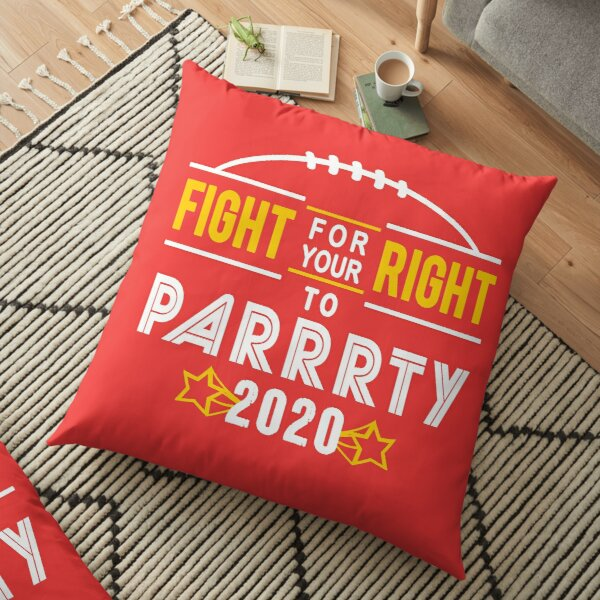 KC Face mask Kansas City facemask Kansas City Fight For Your Right 2020 Kansas City red kingdom football cool graphic design Floor Pillow