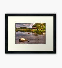 Trout river Framed Print