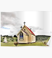 St Mary's Anglican Church, Mamaranui, NZ. Poster