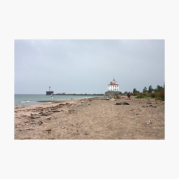 Fairport Harbor West Breakwater Lighthouse Photographic Print