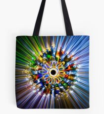 A flower, painted with light Tote Bag