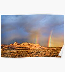 Rainbows Over the Ships Trail Poster