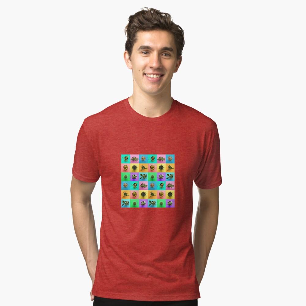 Plant Color Pop Print Tri-blend T-Shirt Front