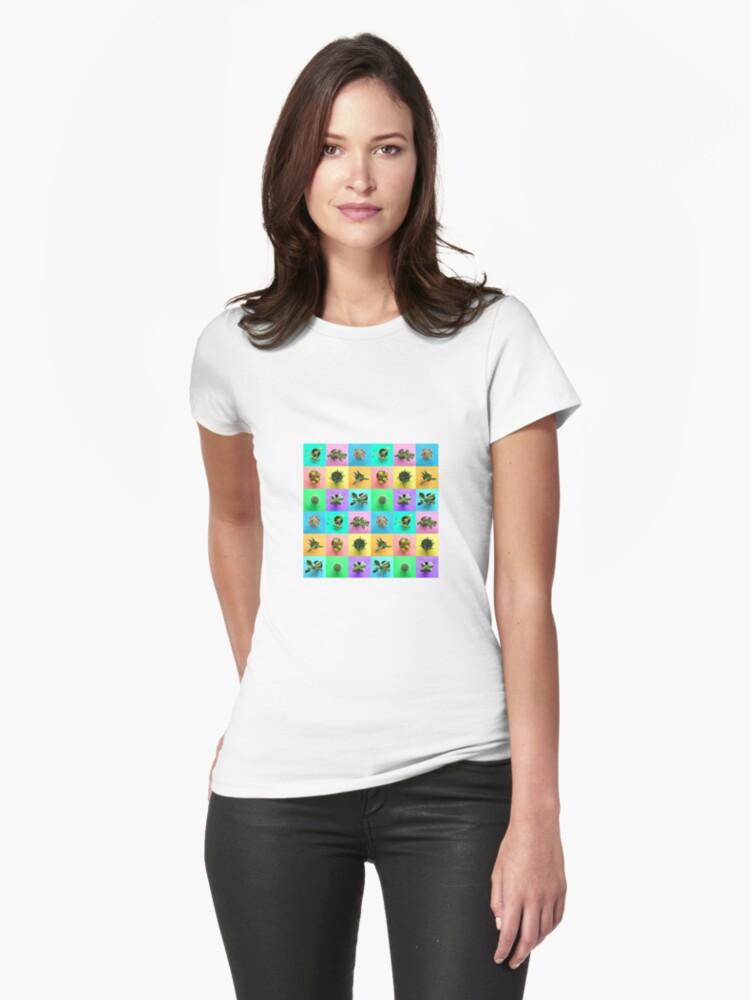 Plant Color Pop Print Womens T-Shirt Front