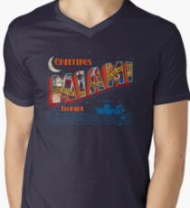 Greetings from Miami Men's V-Neck T-Shirt