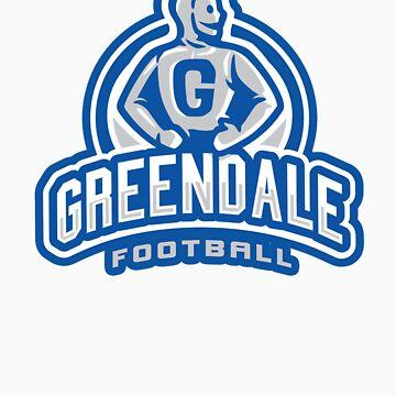 GreenDale Football - STICKER by WinterArtwork