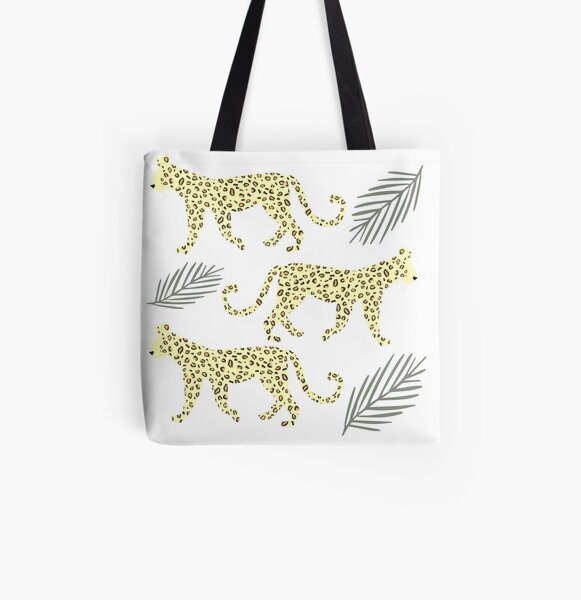 Leopard, Wild Cat All Over Print Tote Bag
