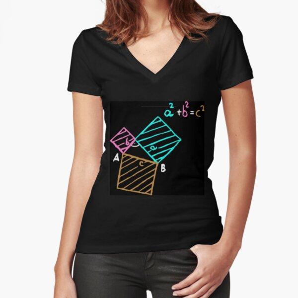 #Formula, #Mathematics, #Equation, #Imaginary, Complex Number, Mathematician, Trigonometric, Functions Fitted V-Neck T-Shirt