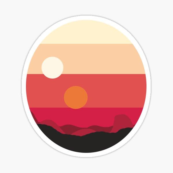 Tatooine Sunset Sticker