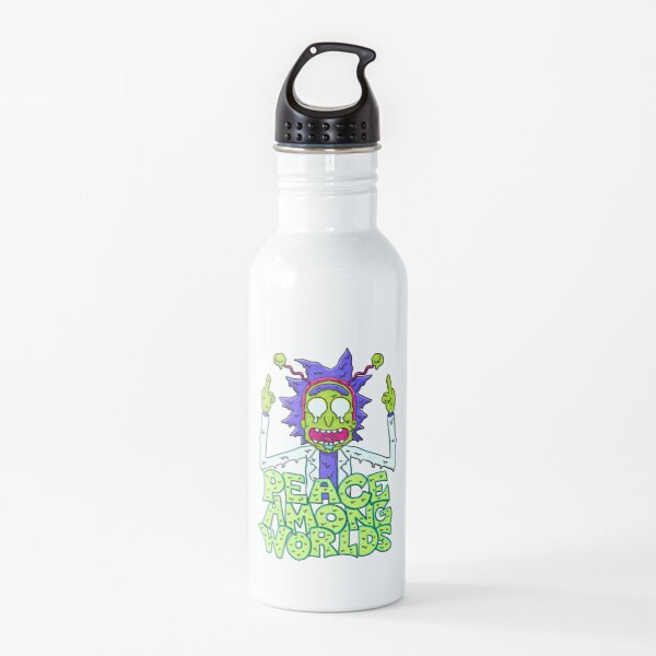 peace among worlds Rick and Morty  melting Water Bottle