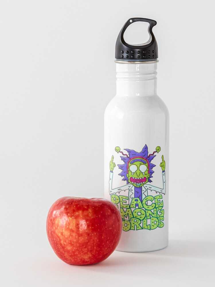 Alternate view of peace among worlds Rick and Morty  melting Water Bottle