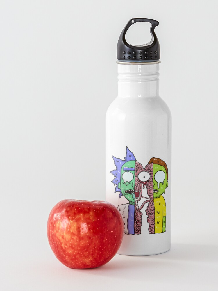 Alternate view of Rick and Morty  melting Water Bottle