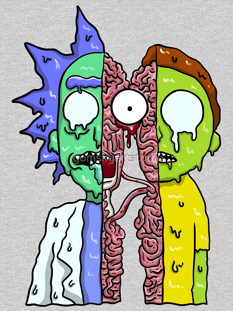 Rick and Morty  melting by gomskyartstudio