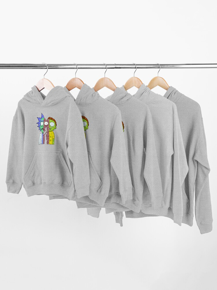 Alternate view of Rick and Morty  melting Kids Pullover Hoodie