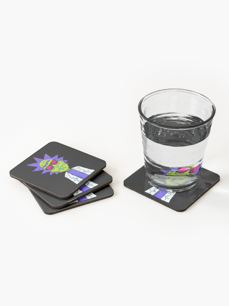 Alternate view of Rick and Morty  melting Coasters (Set of 4)