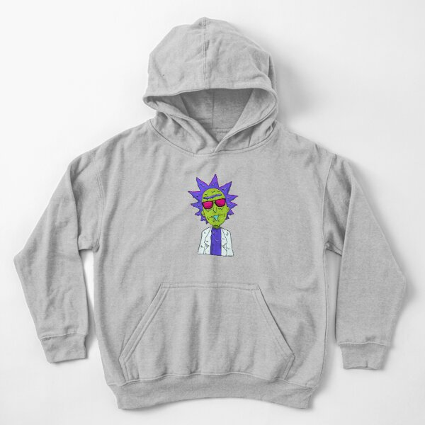 Rick and Morty  melting Kids Pullover Hoodie