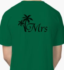 His and Hers Mr and Mrs Palm Tree Honeymoon Matching T-shirts Classic T-Shirt