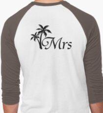 His and Hers Mr and Mrs Palm Tree Honeymoon Matching T-shirts Men's Baseball ¾ T-Shirt