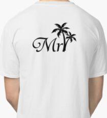 Mister Mr and Mrs Wedding Honeymoon Palm Tree Classic T-Shirt